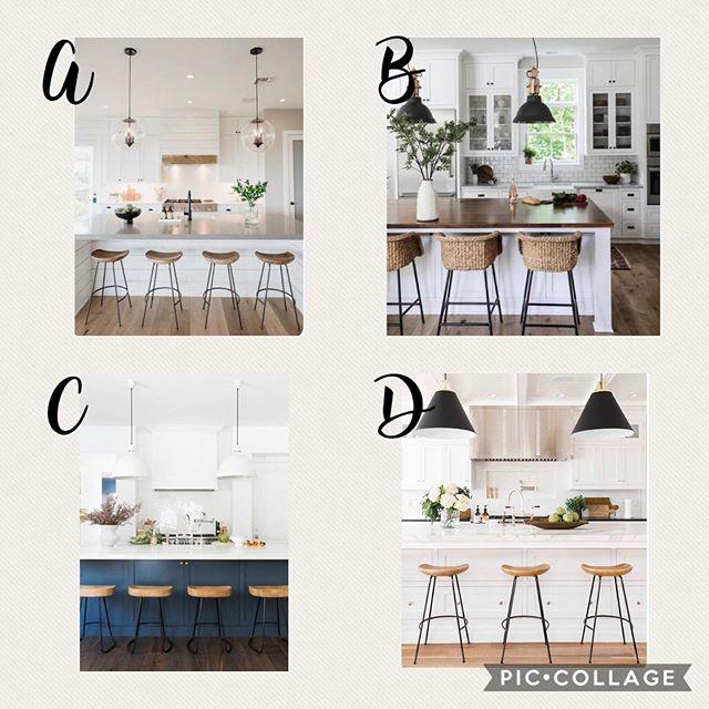 Brainstorming ideas for a kitchen reno! What is your fav? 🤔 . . . . . #kitchendesign #kitchenrenovations #modernfarmhousekitchen #farmhousechicdesigns #whatsyourfavorite #farmhousekitchen #illuminate #instagood #illuminare #dentontx
