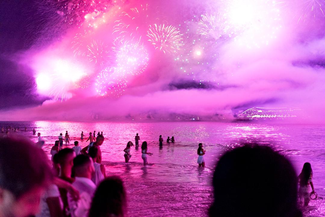 New Years, Copacabana Beach.