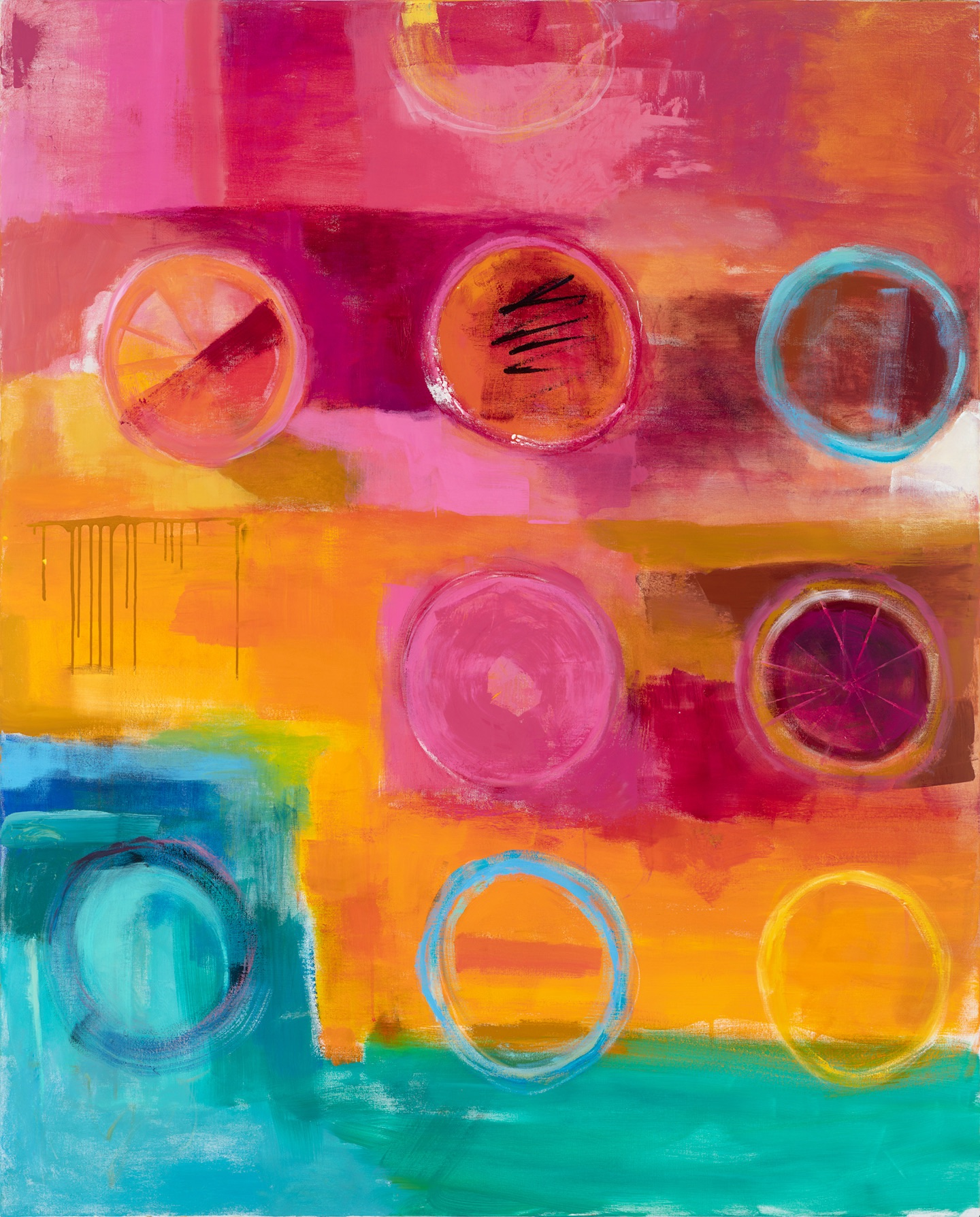 CIRCLES - oil on canvas | 48 x 60 (sold)