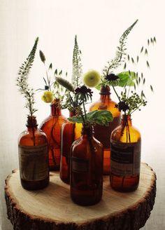 Vintage tincture bottles