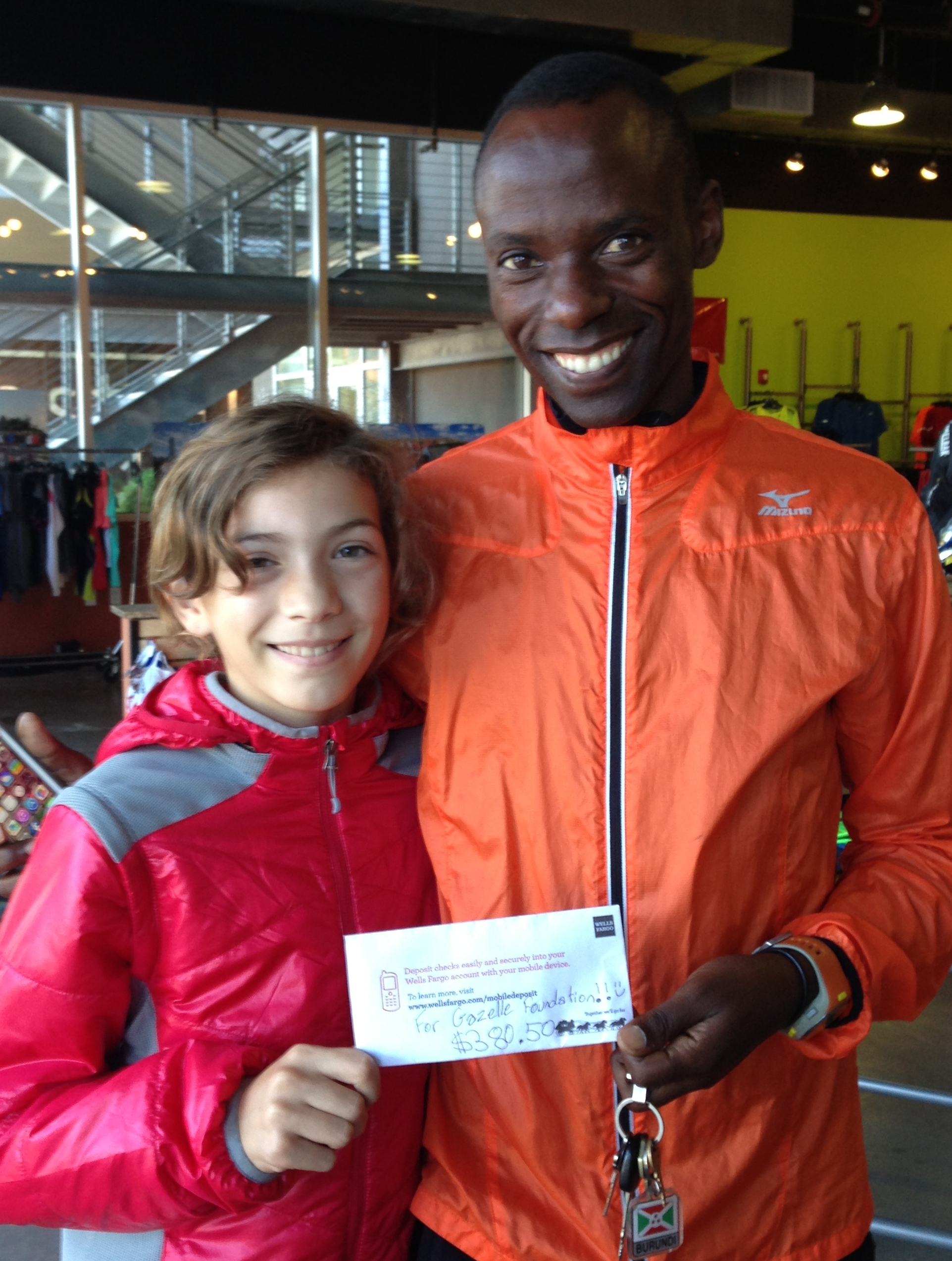 Trini at age 10 raised money for the Gazelle Foundation at her school.