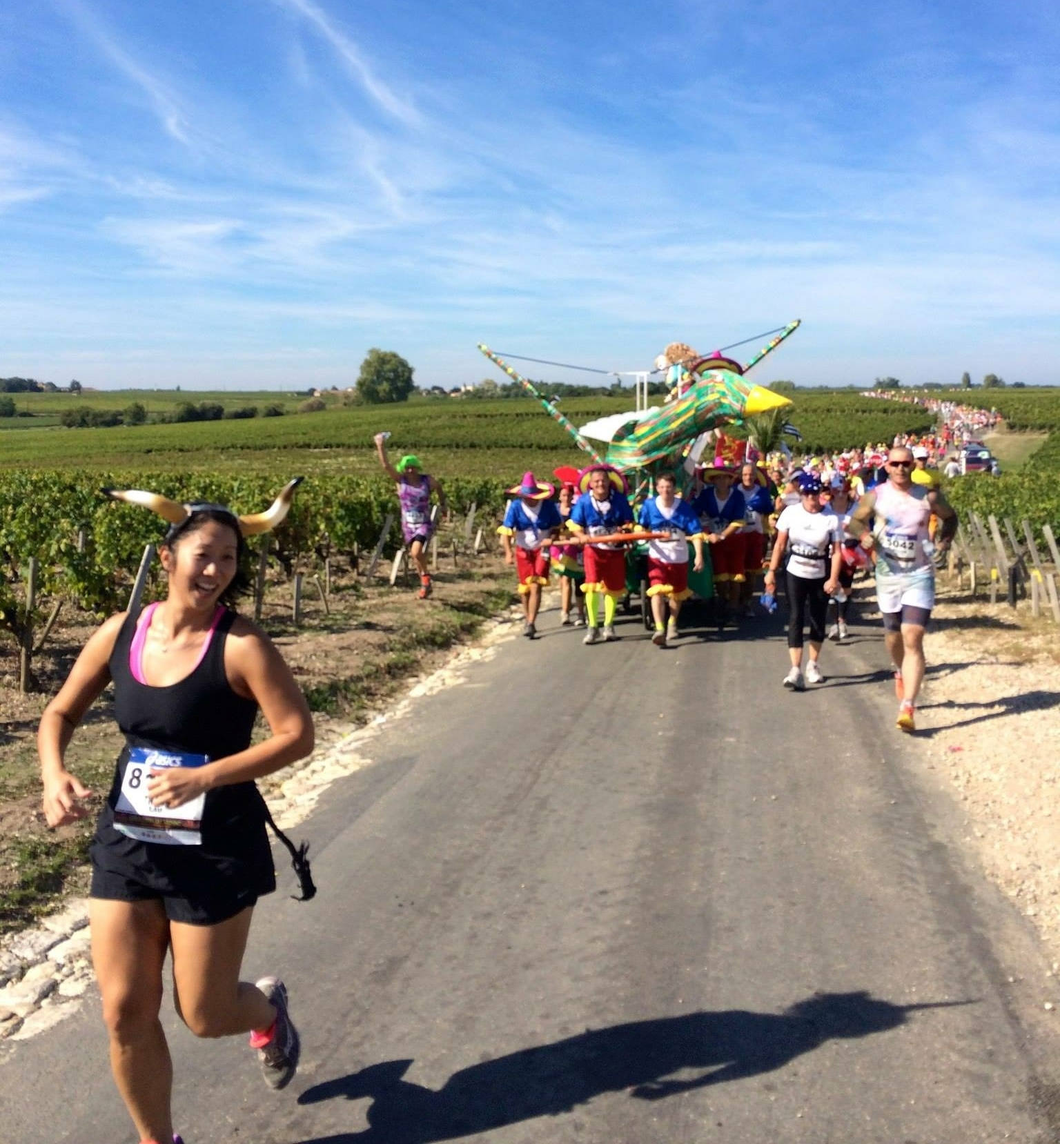 Running with joy in Pauillac, France