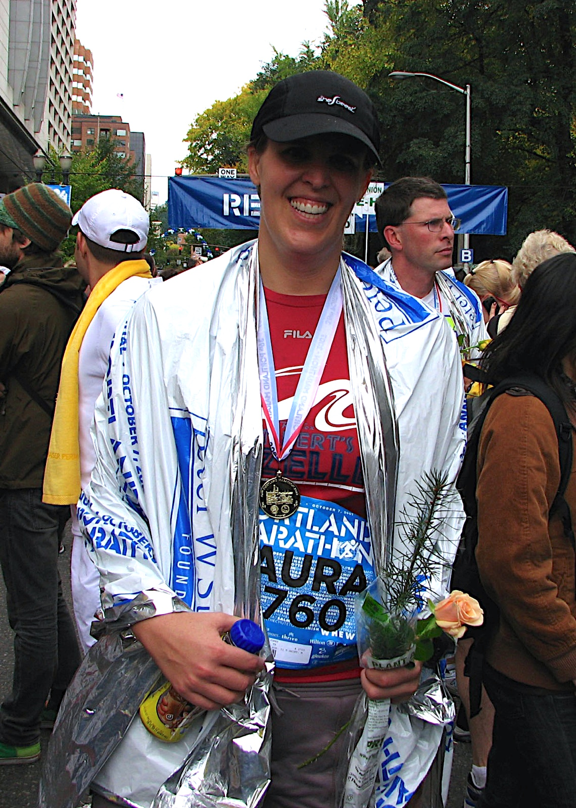 Marathon finish in Portland 2007