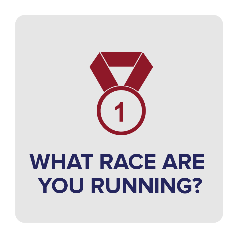 Active Gazelles: Let us know your race(s) so we can get you what you need!