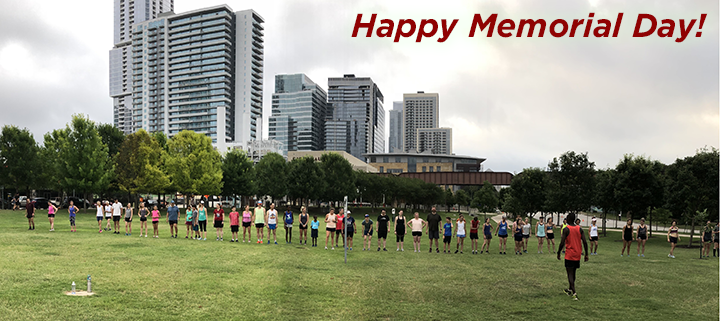 Thanks to everyone who came to our Memorial Day workout!
