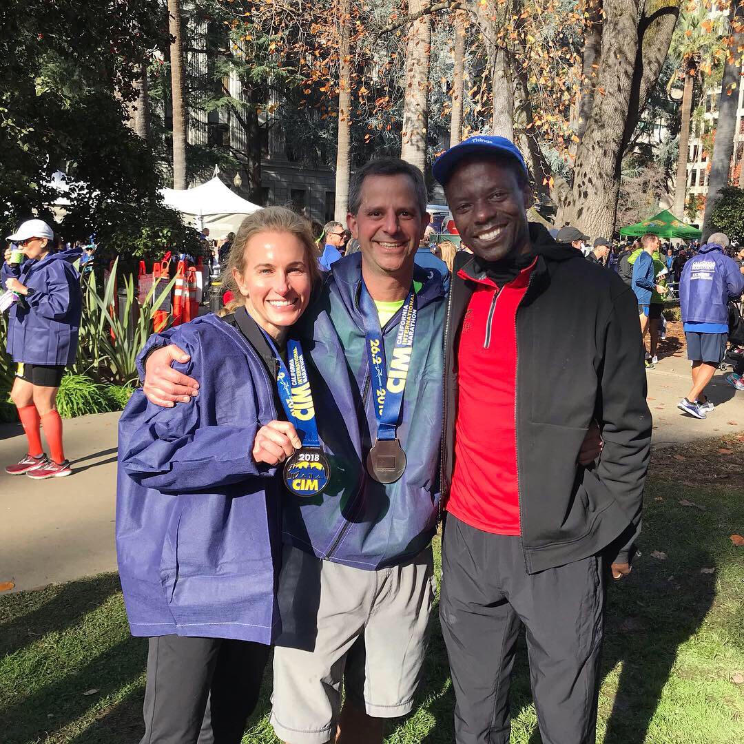 CIM 2018. Amy and Howard with Coach