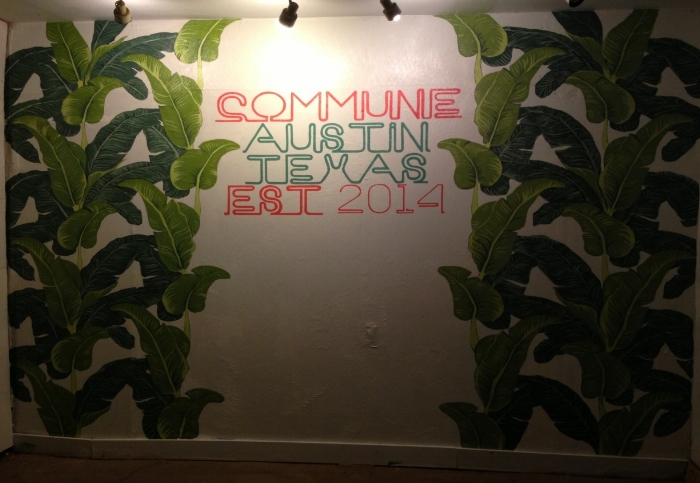 commune. store mural. austin, tx.