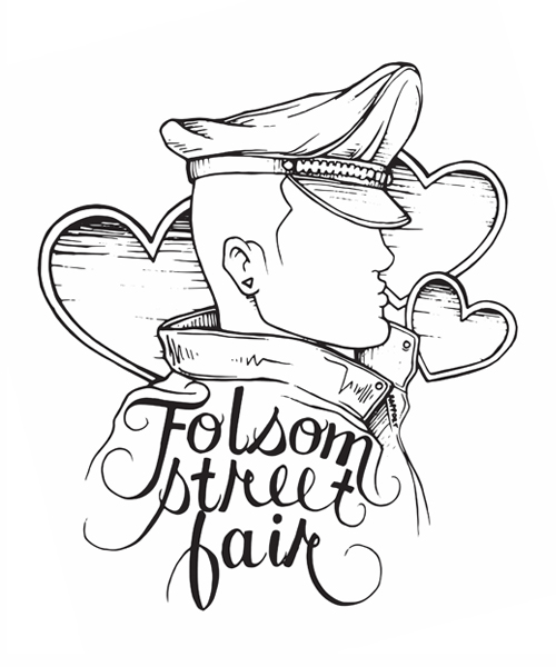 FOLSOM STREET FAIR. T-SHIRT DESIGN 2017.