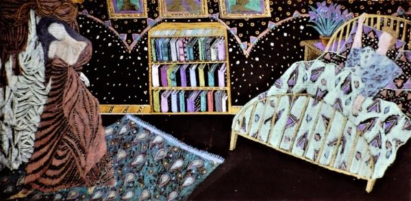 Biasiello, Untitled, 1989. Colored pencil on board.