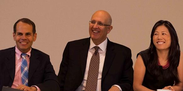Blue Sky Senior Vice President Joel Papo, Chairman/CEO Phil Silverman and Vice President Lori Matsukuma