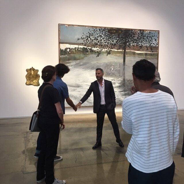 Celaya at the Kohn Gallery, Los Angeles opening