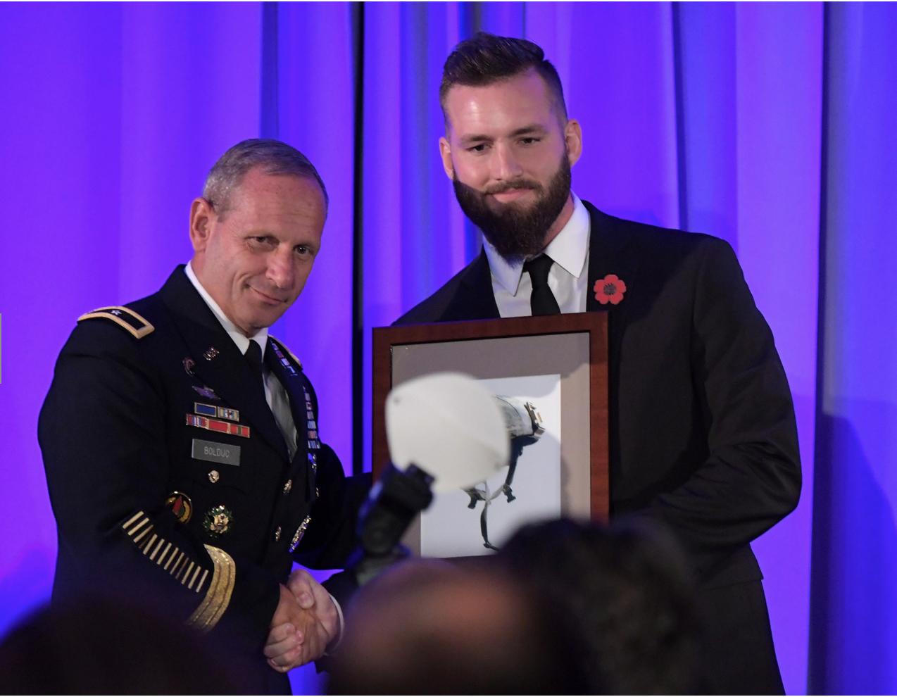 2017Headstrong Gala - Receiving the Moral Courage Award