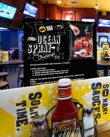 Win a free drink on the hous... in 30 seconds! To win you must either:  - Sing your favorite song a capella  - Perform the macarena while maintaining a serious face.  - Then post your craziness on Instagram or Facebook using the hashtags,  #oceanspray  and  #bww  to win a free drink.