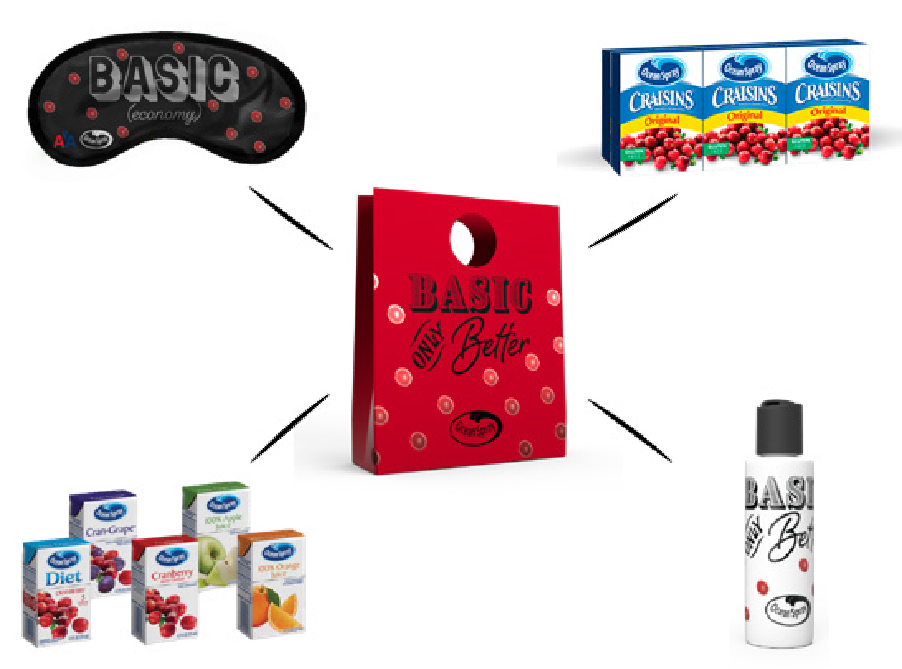 Millennials now choose  American  as their top airline brand, per a Harris Poll 2017. Ocean Spray will transform Basic Economy with swag (and, Craisins!).