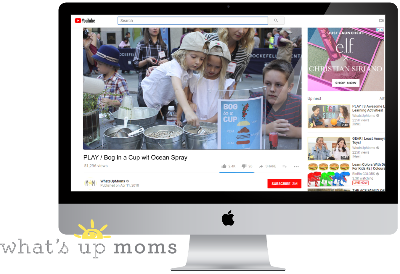 """What's Up Moms  is an online brand with millennial moms as their fastest growing segment.17 Ocean Spray will send a """"bog in a cup"""" media kit, along with a Mocktail to guarantee coverage on the topic."""