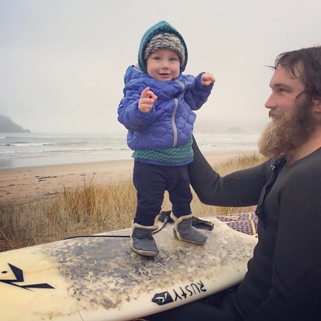 Never to young to start surfing!?! #hairydad #surfer #surfer #youngsurfer #surferboy #surferphotos #surferdude #beach #kid #baby #whangamata #coromandel #newzealand