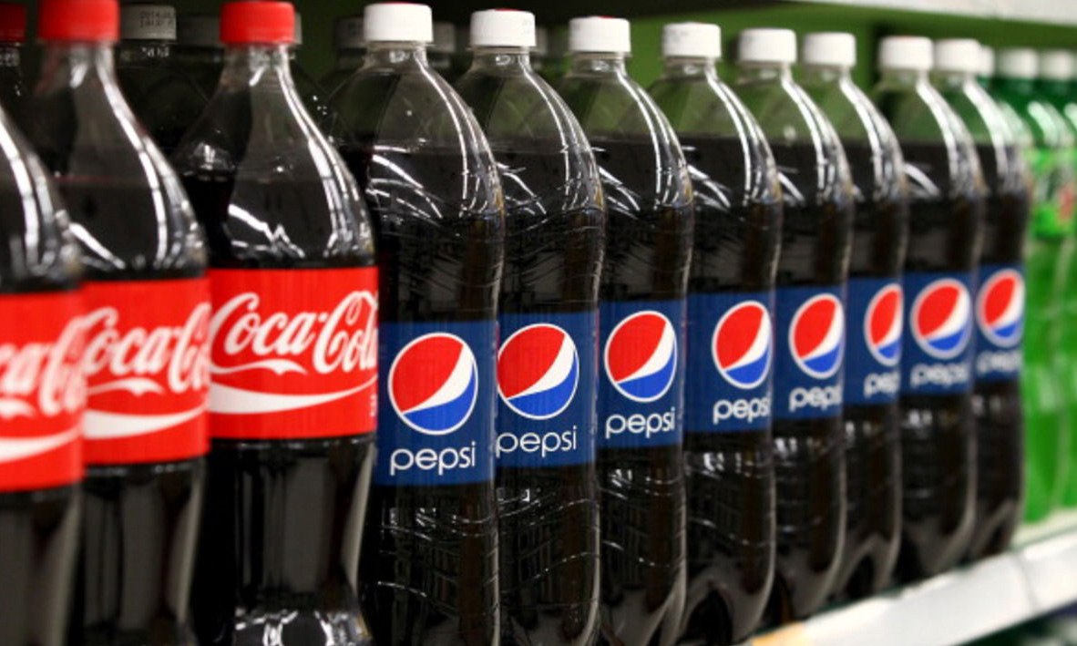 Coke and Pepsi, two of the biggest offenders.