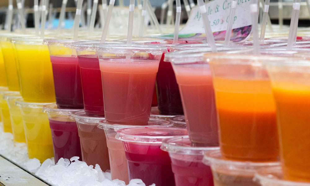 Fruit drinks are often a surprise sugary drink.