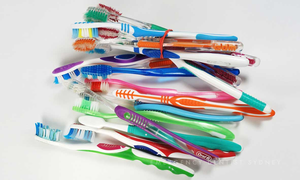 © Emergency Dentist Sydney Why Ignoring Bleeding Gums Is A Big Mistake Used brushes.jpg