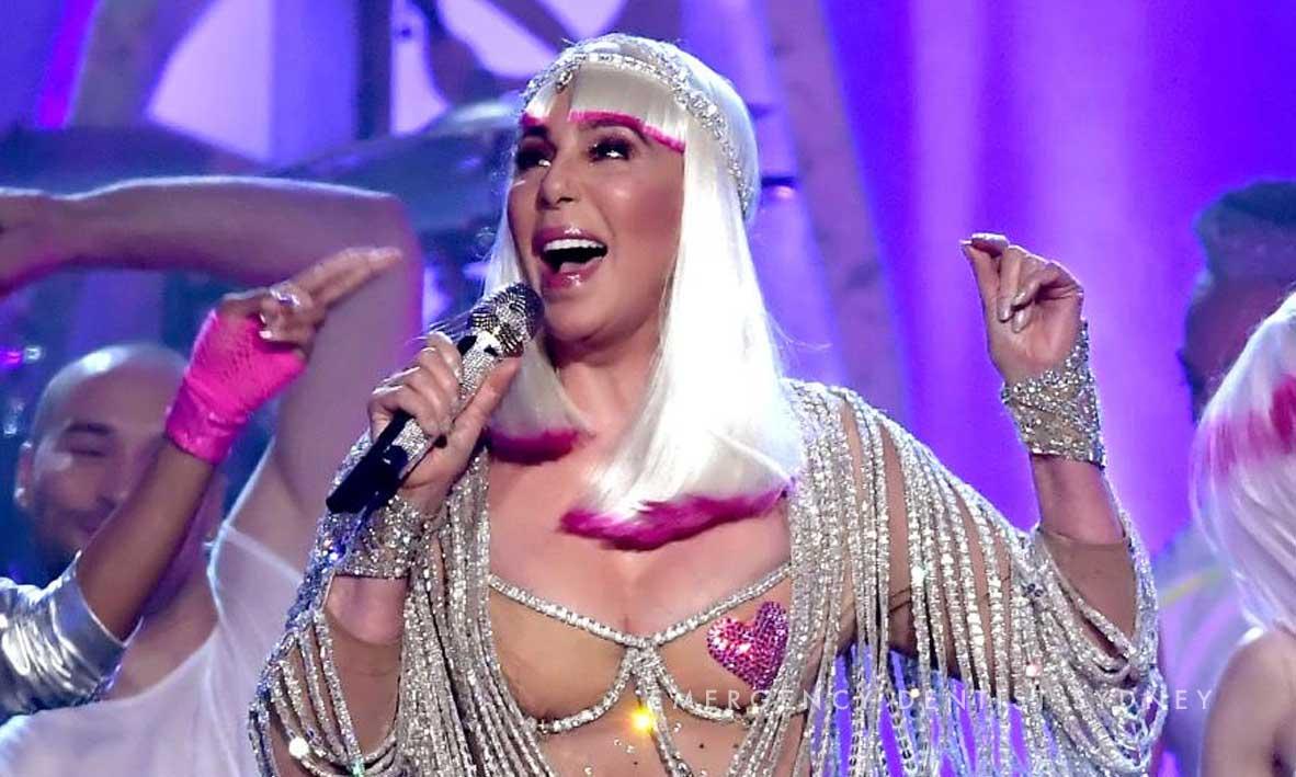 This year's headline act, Cher.