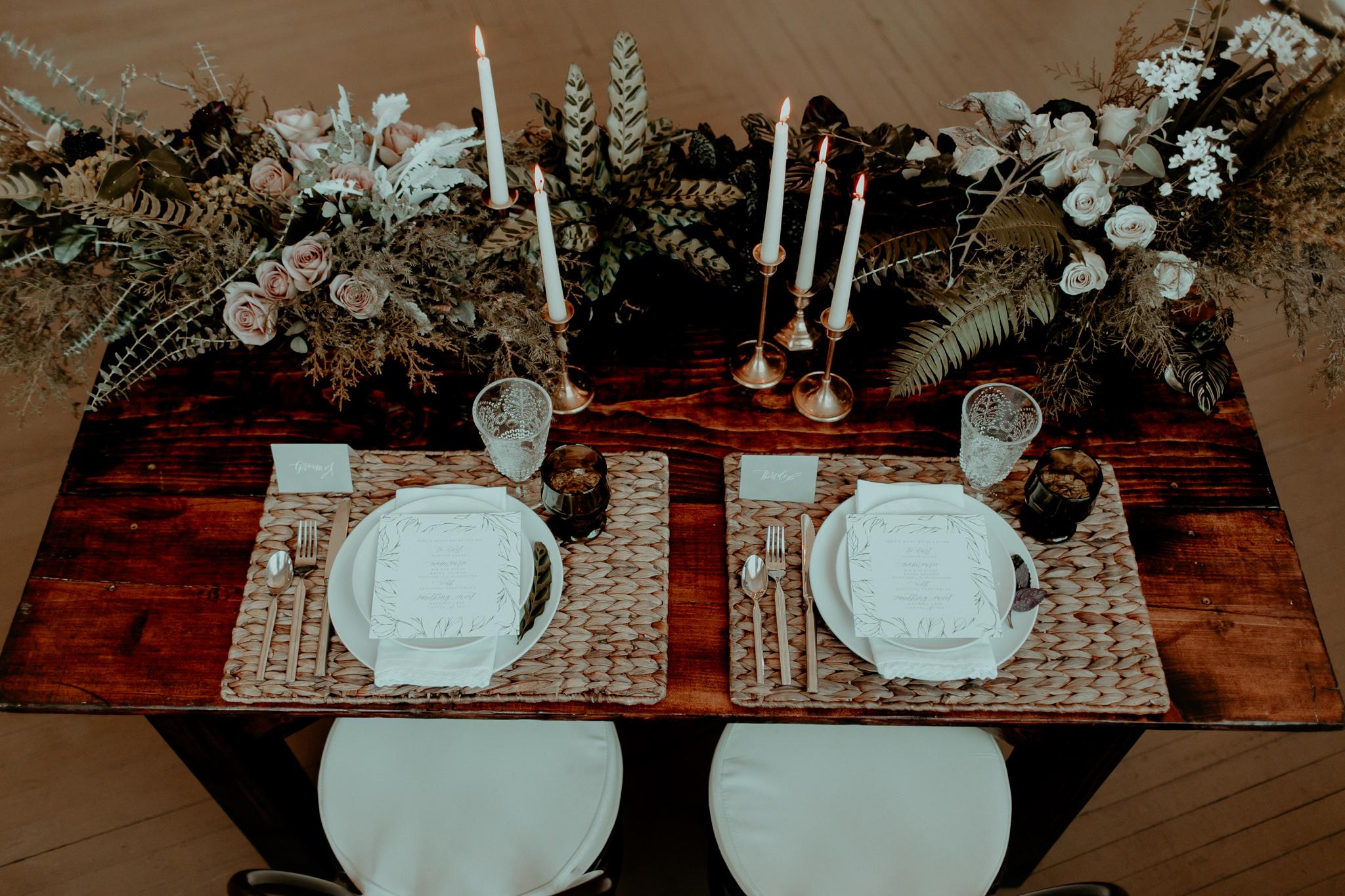 industrial romantic wedding inspiration