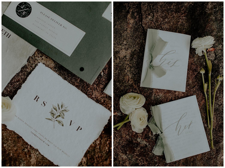 romantic wedding stationary