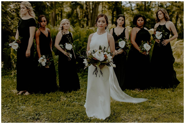 modern romantic bridesmaids