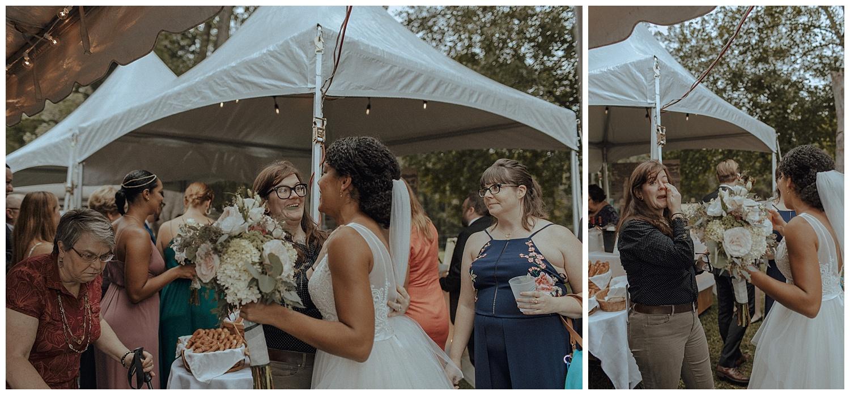 backyard wedding cocktail hour
