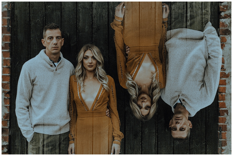 double exposure engagement photos