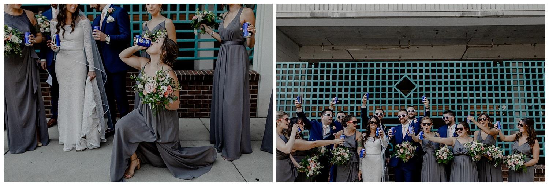 bridal party drinking bud light