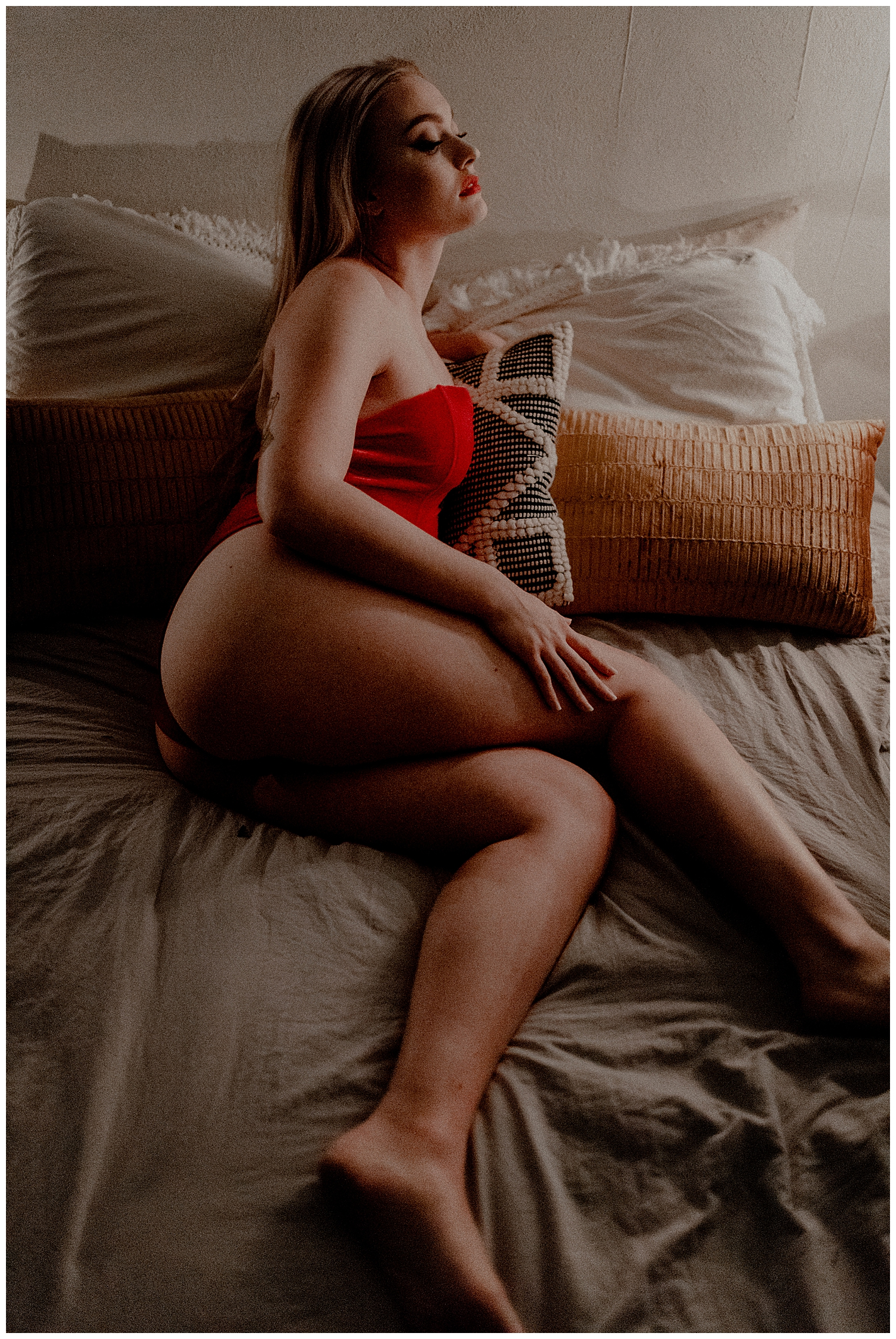christmas boudoir session