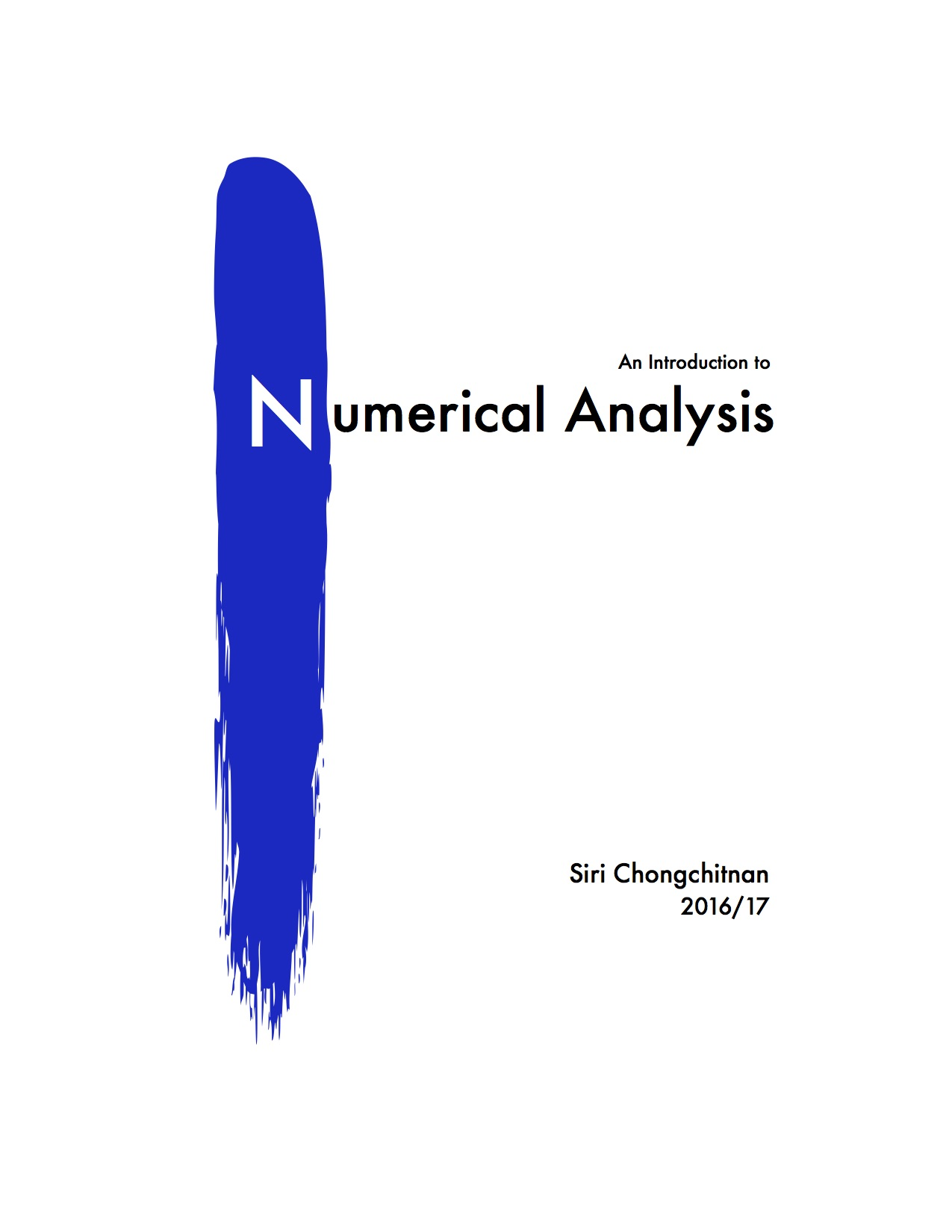 Introduction to Numerical Analysis (16/17)