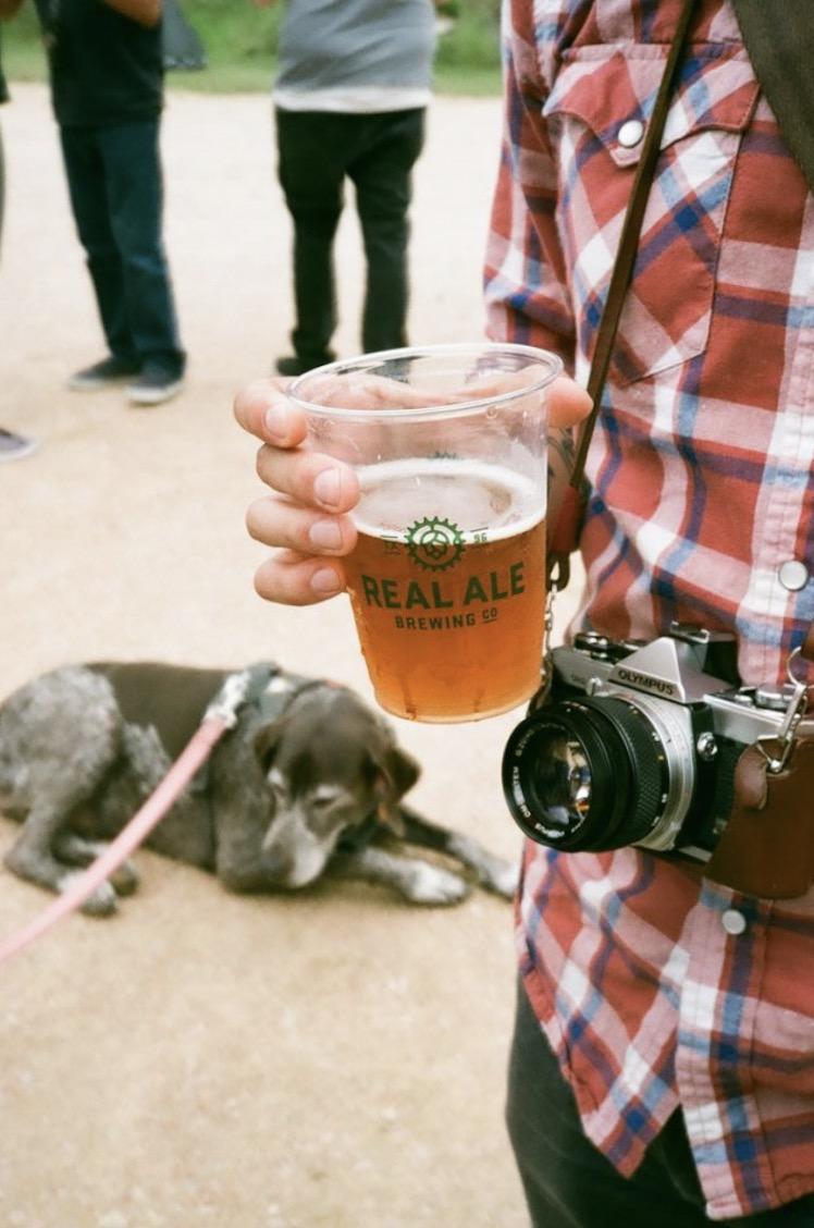 Hans, beer, Olympus OM-2n.  Nikon TeleTouch | Expired Kodak Gold 200  by Harrison Civick