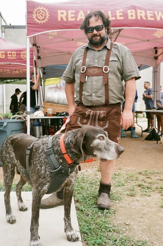 Hans and Brad, Real Ale Oktoberfest 2018  Nikon TeleTouch | Expired Kodak Gold 200  by Harrison Civick