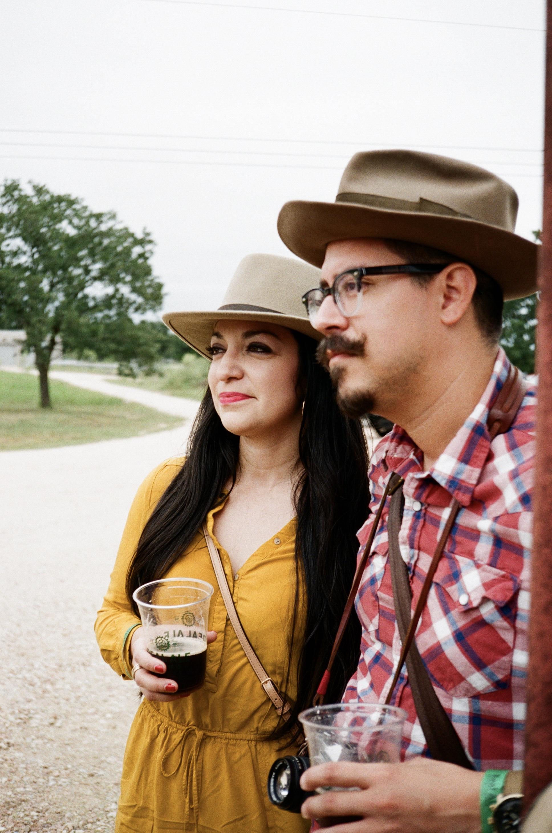 JoMando and Lynn, Real Ale Oktoberfest 2018  Ricoh 35 EFS | Fujifilm Superia 400  by Harrison Civick