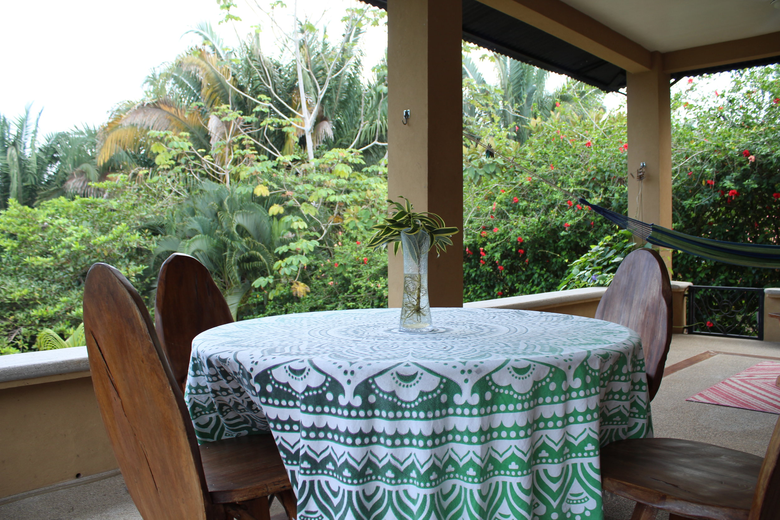 Back Porch in Costa Rica