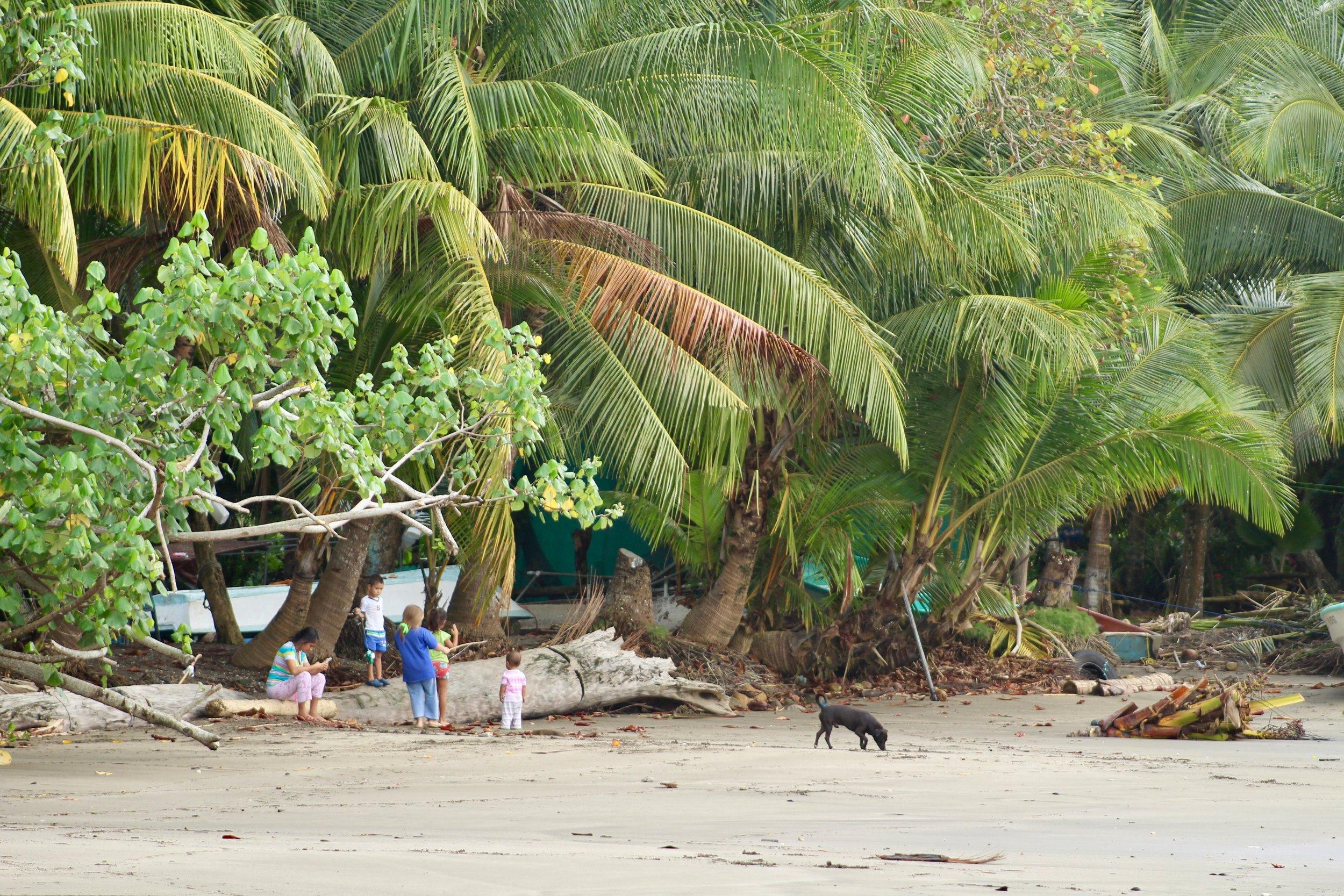 Local Kids on Beach Costa Rica