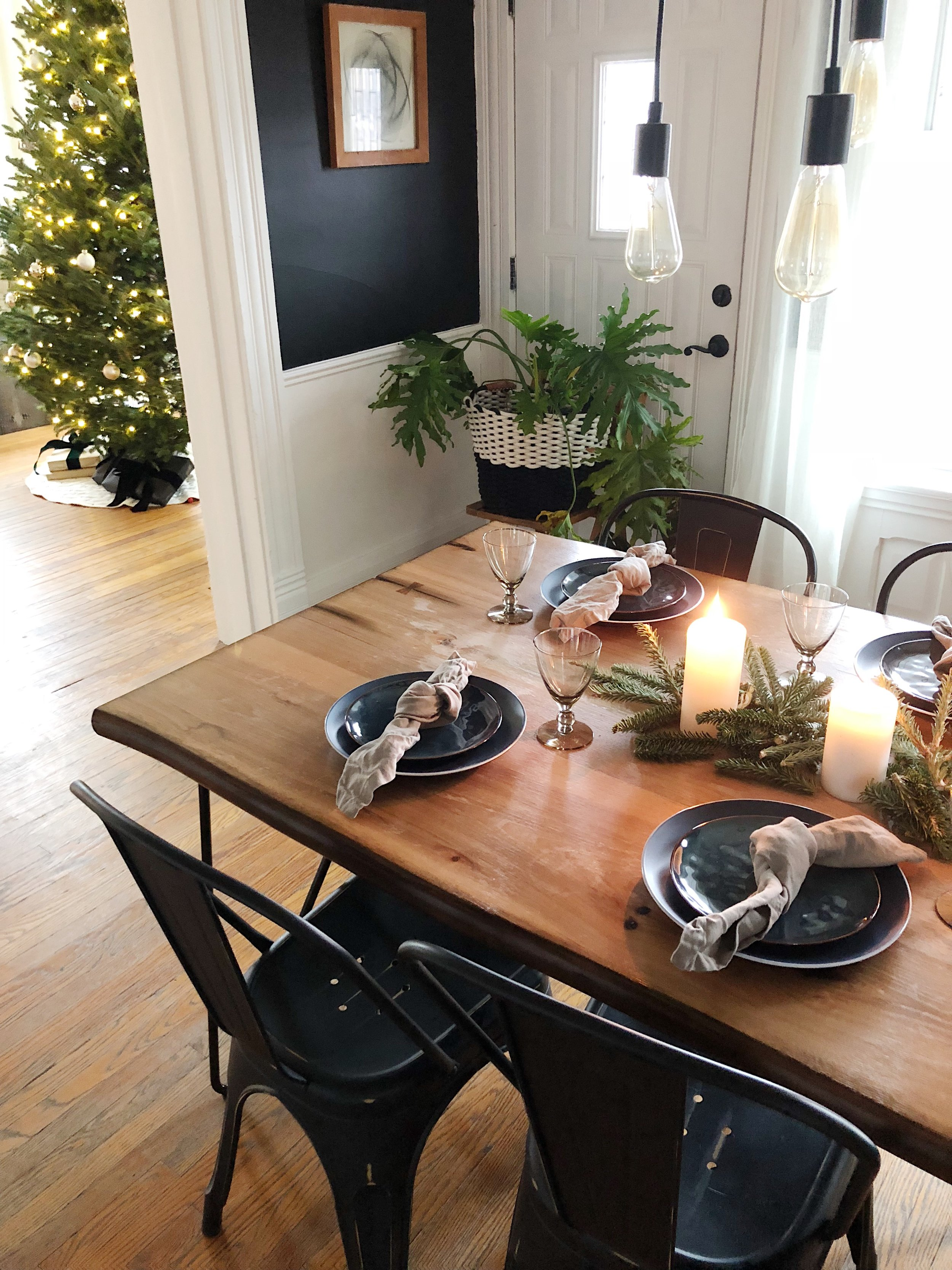 Christmas Tablescape Holiday Decor Dining Room Place Setting