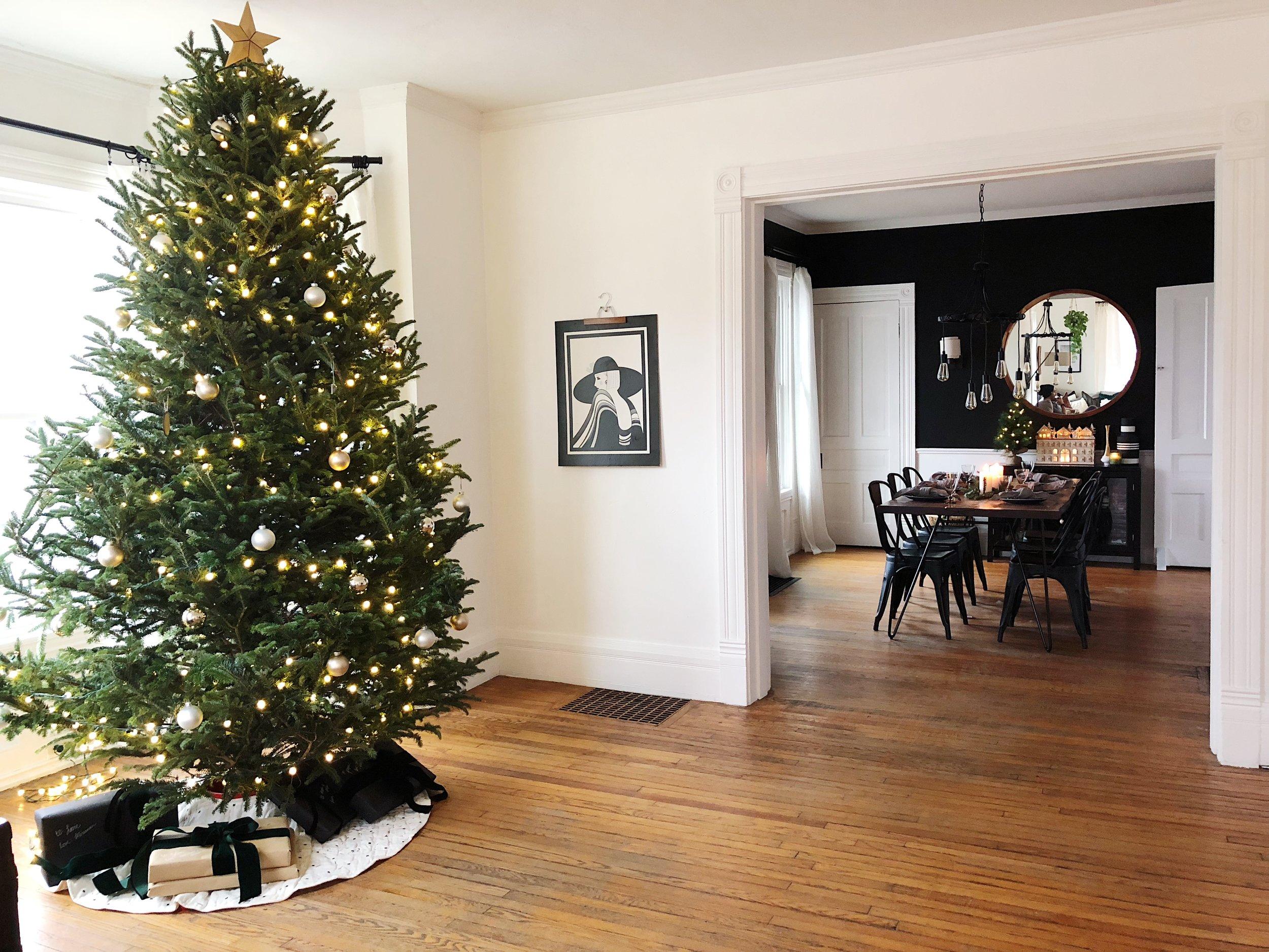 Black and White Christmas Decor Neutral Christmas Decor Live Tree