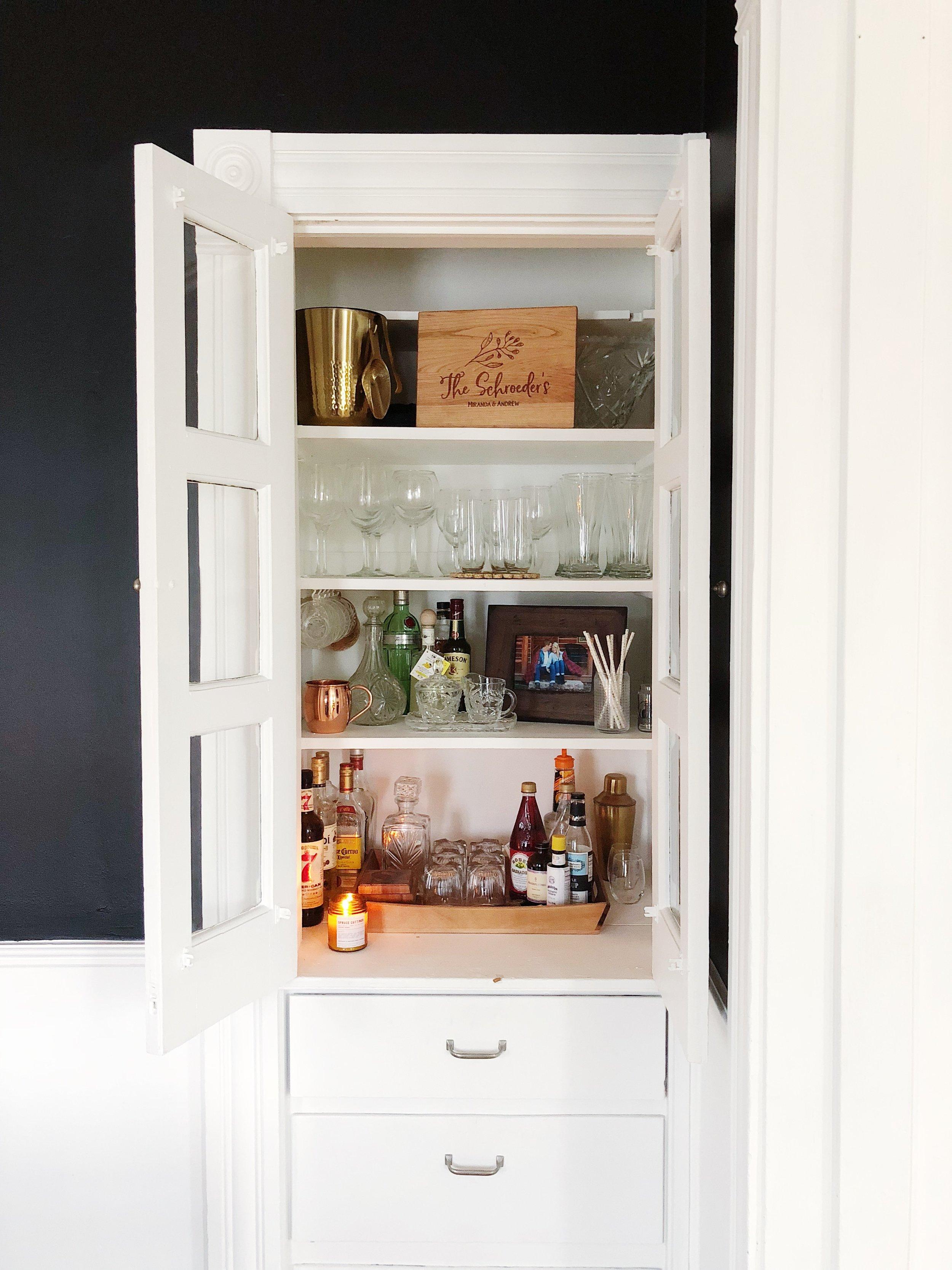 Liquor Cabinet Decor Built in Cabinet Dining Room