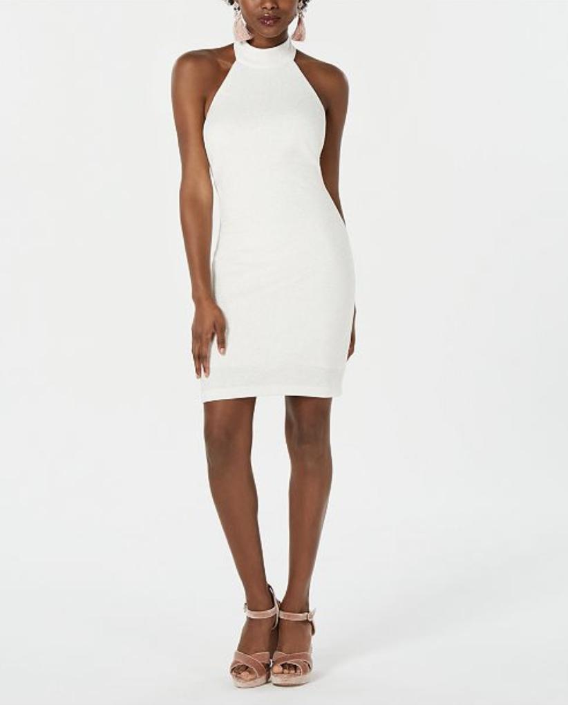 Lace Little White Dress   Cocktail Dress   Bachelorette Dress   Bridal Shower Dress   Rehearsal Dinner Dress  Wedding   Thoughtfully Thrifted