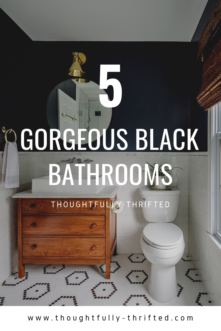 Gorgeous Eccentric Black Bathrooms   Thoughtfully Thrifted