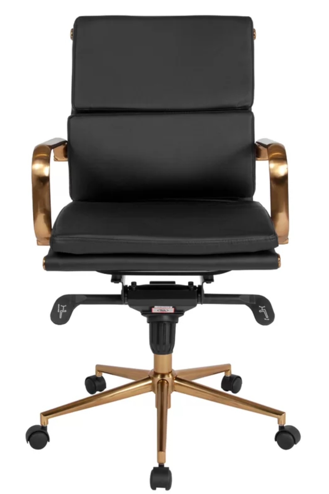 Lokendra Office Chair Black and Gold