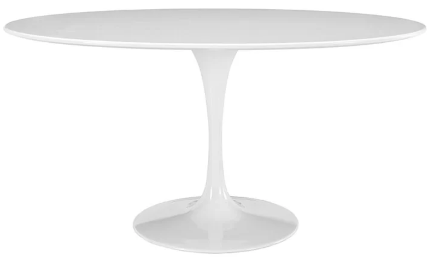 Modern White Oval Table