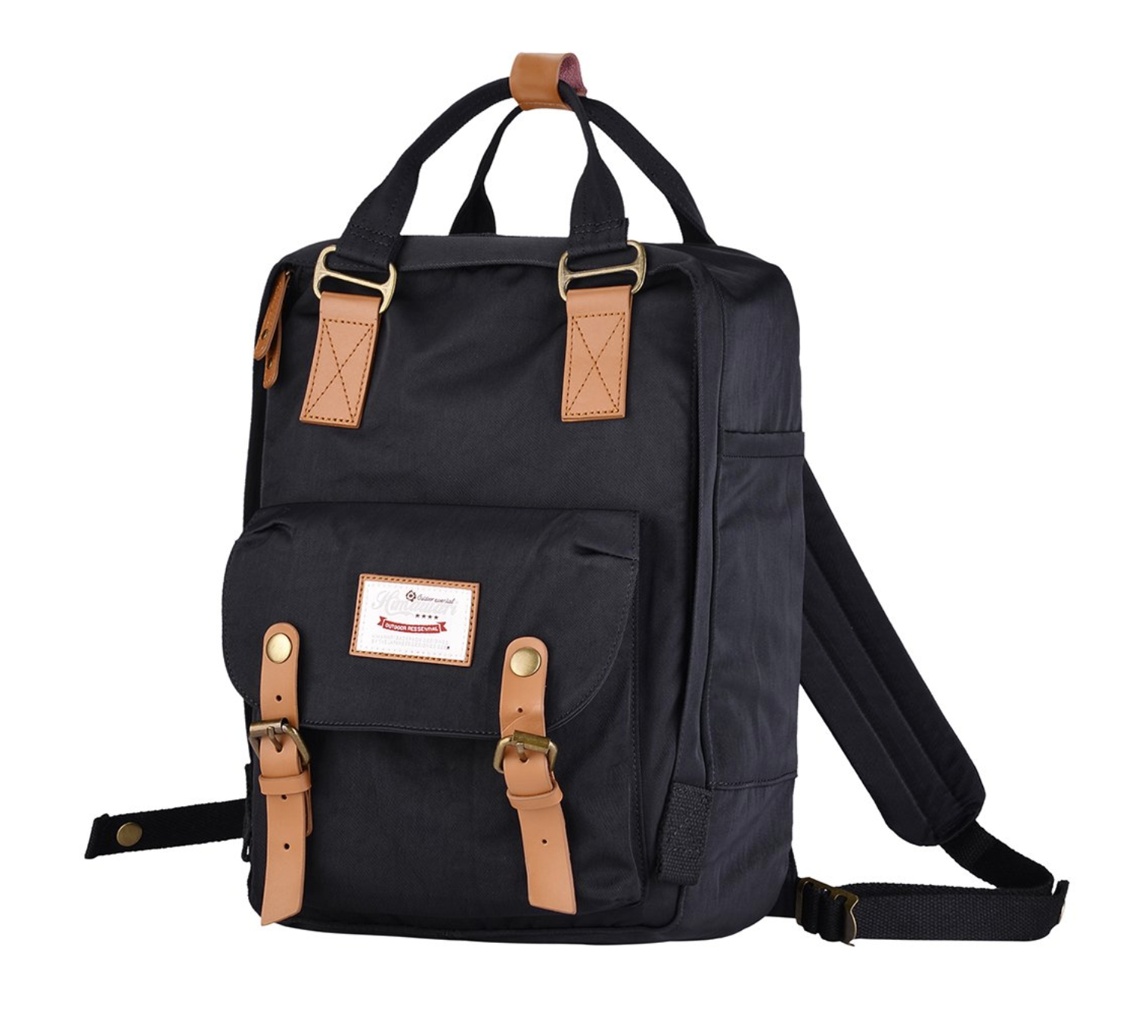 "Himawari School Functional Travel Waterproof Backpack Bag for Men & Women | 14.9""x11.1""x5.9"" | Holds 13-in Laptop (Black)"