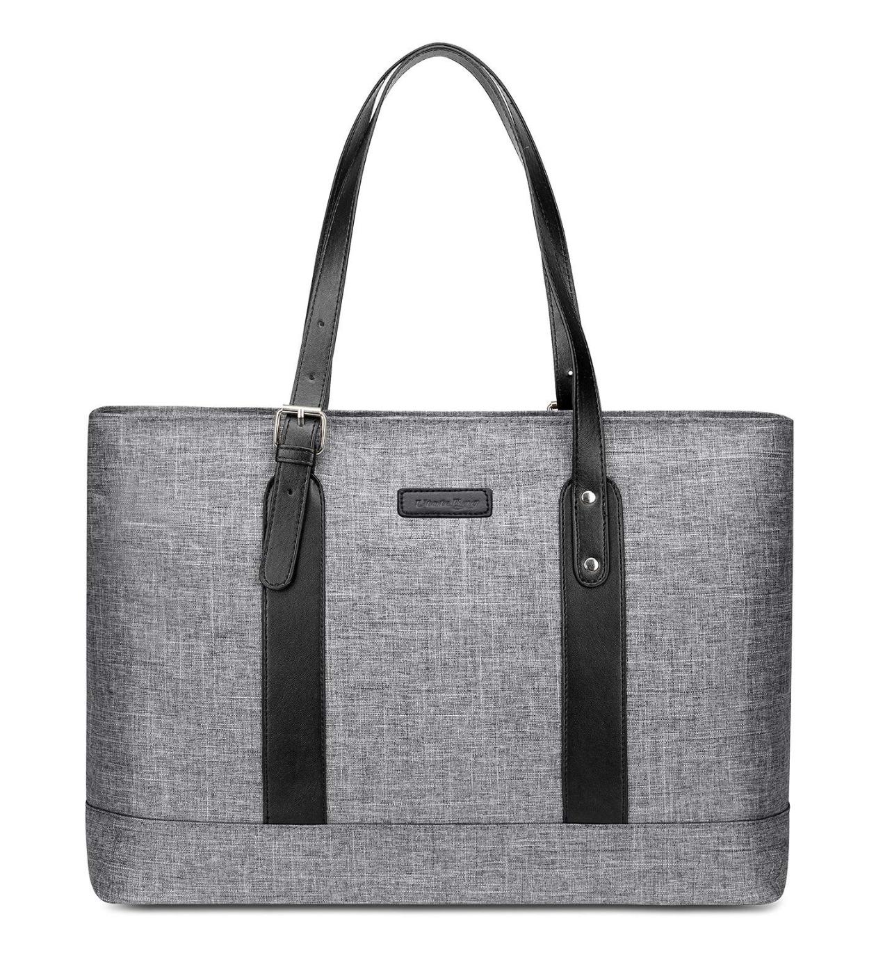 Utotebag Women Laptop Tote Bag, 15.6 Inch Notebook Ultrabook Shoulder Bag Lightweight Nylon Briefcase Classic Handbag Handle Adjustable Work Travel Business