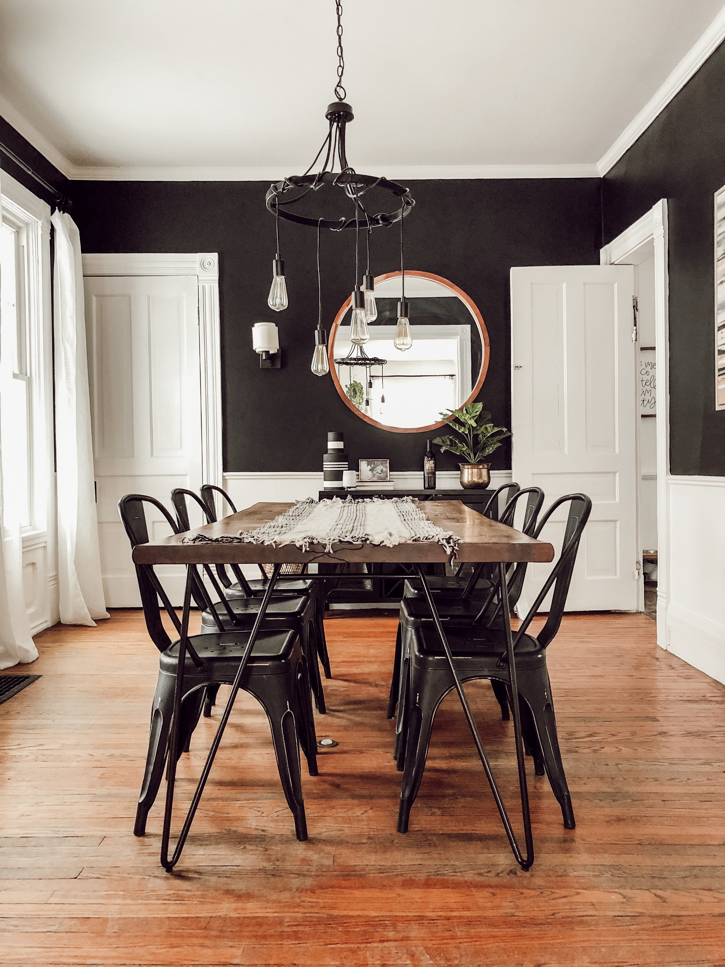 Black and White Dining Room | Miranda Schroeder House Tour