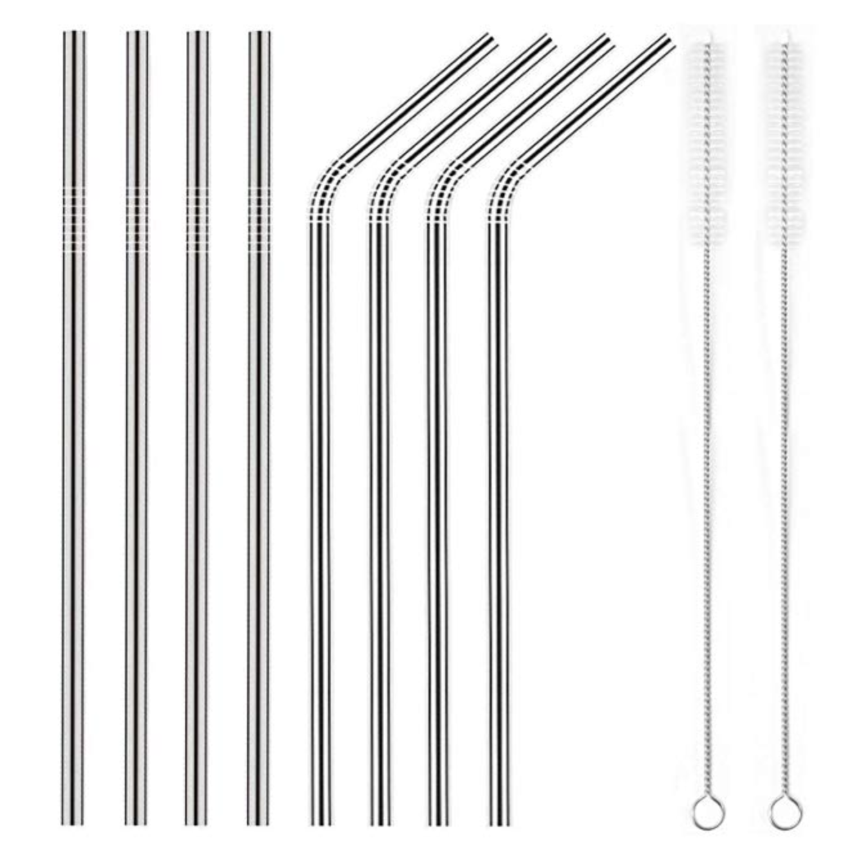 Zero Waste, Sustainability, Eco Friendly, Stainless Steel Reusable Straws with Cleaner Brush | Miranda Schroeder Blog
