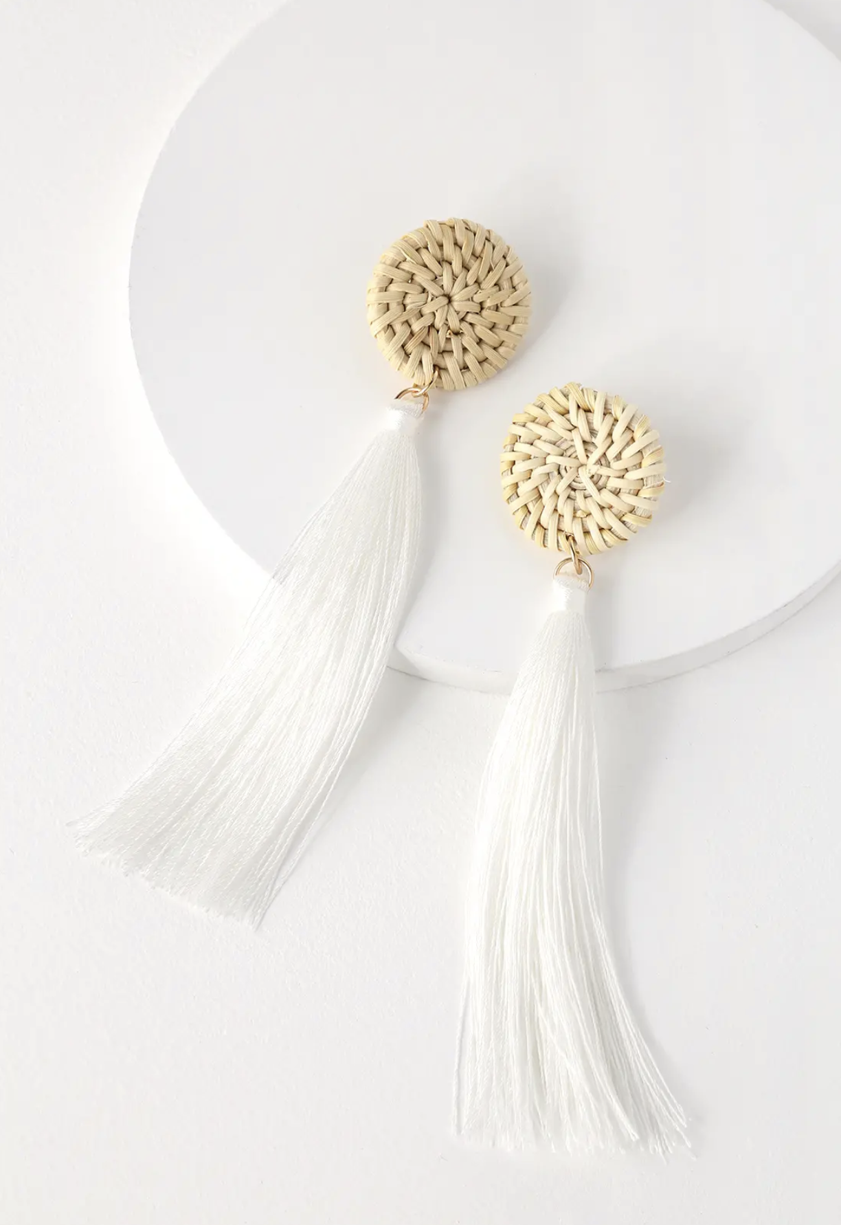White Tassel Earrings | Jewelry, Accessories | Shop Miranda Schroeder Blog
