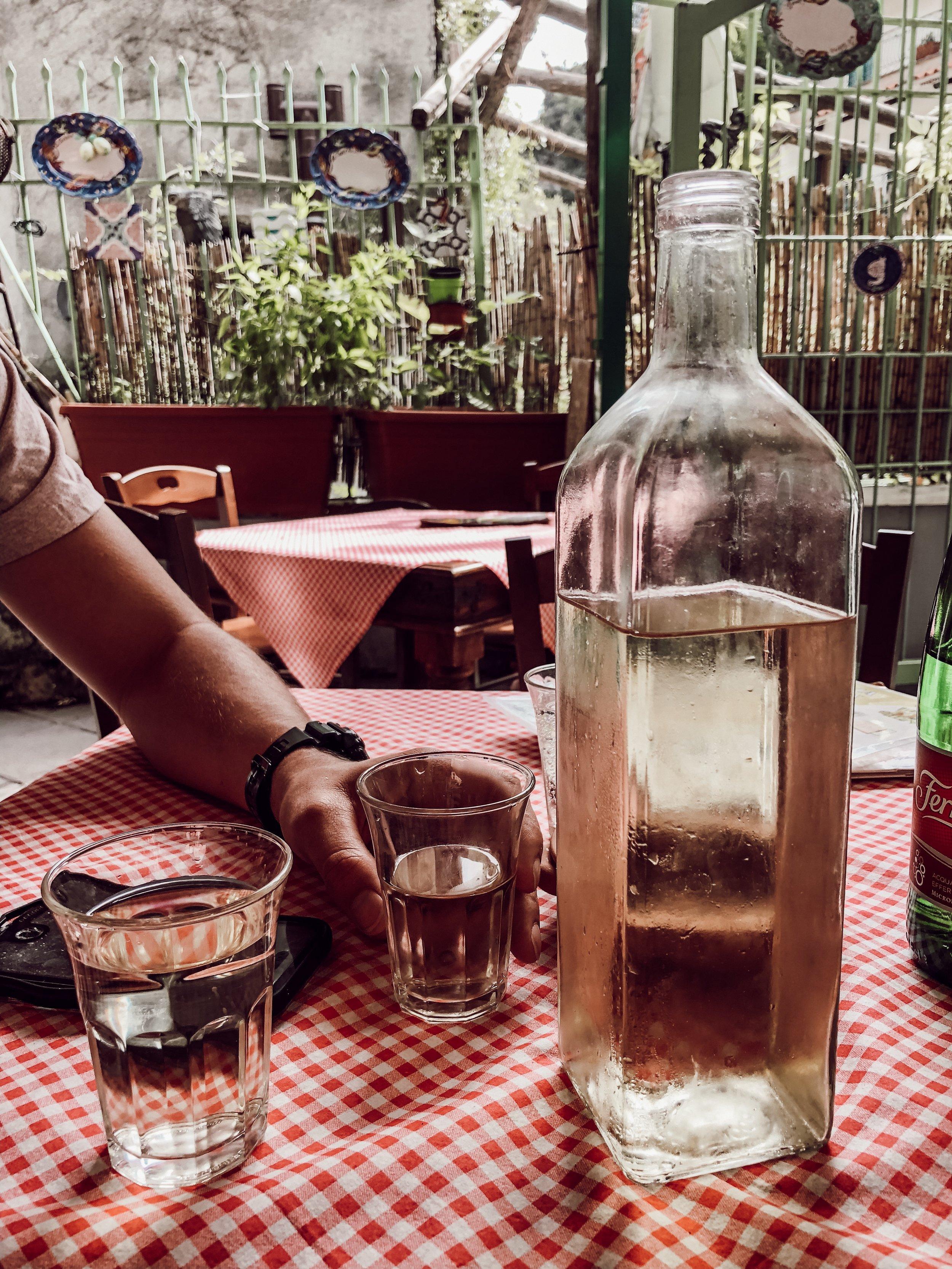 Homemade Wine Amalfi Italy | Three Days on the Amalfi Coast, Amalfi Travel Guide, What to Do in Amalfi Italy | Miranda Schroeder Blog